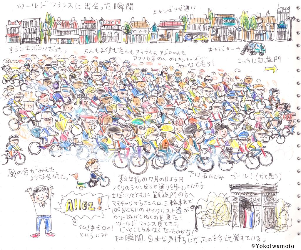 シャンゼリゼ通りで見た圧倒的なサイクリスト達