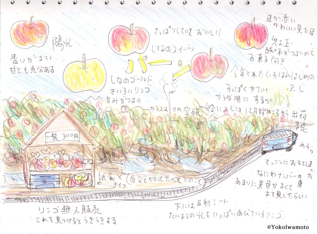 長野県・松川町リンゴを買いに