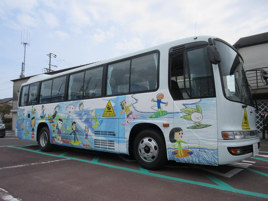 相良小学校児童と一緒にスクールバスのデザインを考えました2